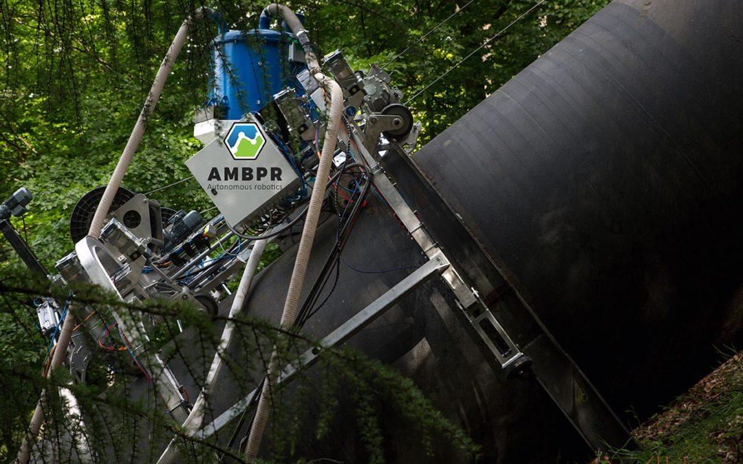 Robot sur pipeline hydroélectrique